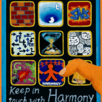 Together we can poster - Ipad showing an icon for a harmony app